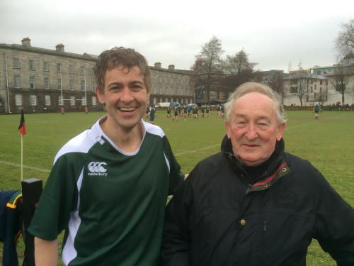 Mark played international rugby against England in Trinity College, the match consisted of Dáil and Seanad members versus the Lords and MPs of Westminster. Ireland won 27 to 7, making it the 14th win in a row.