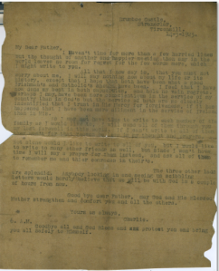 Commadant General Charlie Daly's Last Letter