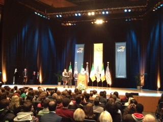 U.S. Secretary of State receives Fr. Aengus Finucane Award