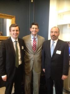 Senator Daly with Congressman Paul Ryan and Ciaran Staunton