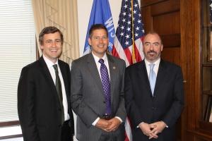 Senator Mark Daly meeting with  Congressman Sean Duffy and Mr Ciaran Staunton of the ILIR