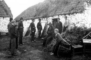 An Eviction scene in Co. Clare, families left without homes after the Great Hunger - Photo sourced via Google Images