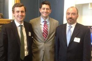 rish Senator Mark Daly, Congressman Paul Ryan, and Irish Lobby for Immigration Reform President Ciaran Staunton, at Ryan's office on Capitol Hill in May 2013