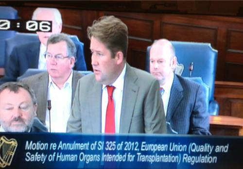 Senator Darragh O'Brien, Leader of the Opposition in the Seanad, opening the debate for the recall