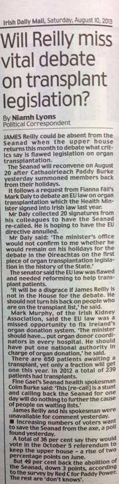 Irish Daily Mail, Saturday 10