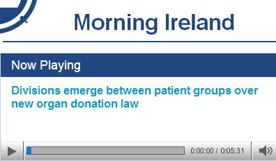 CEO of the Irish Kidney Association, Mark Murphy, speaking with Bryan Dobson on RTE Radio One's Morning Ireland (16/08/2013)