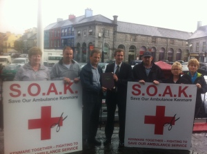 Members of Kerry Action Group 'Save our Ambulance Kenmare' [S.O.A.K] with Senator Mark Daly www.soak.ie