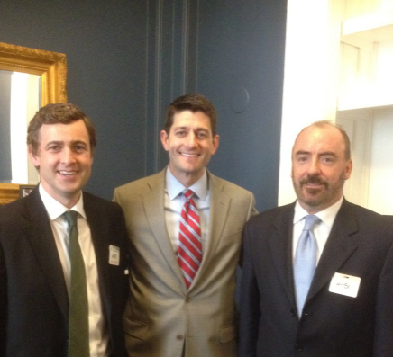 Senator Mark Daly with Irish Lobby for Immigration Reform's Ciaran Stanton and Congressman Paul Ryan