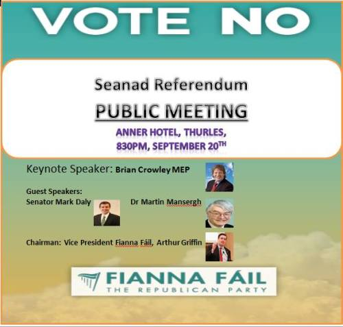 Thurles Vote No Public Meeting