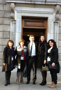 Visitors to Leinster House