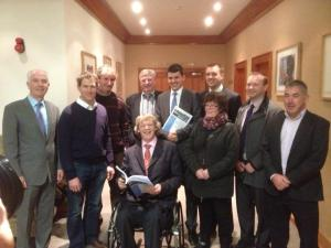Brian Crowley MEP, Liam Aylward MEP, Cllr Matt Doran , Eamon Aylward, Mckee Patrick, Adrian O Higgins and Cllr John Coonan