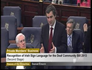 Senator Mark Daly speaks in favour of recognition