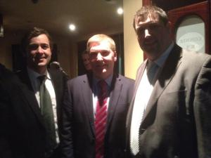 Senator Daly with Michael McGrath TD and Niall Kellher