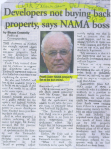 Developers not buying NAMA Cork Examiner Jun 11