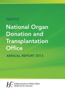 NODTO's Annual Report 2013