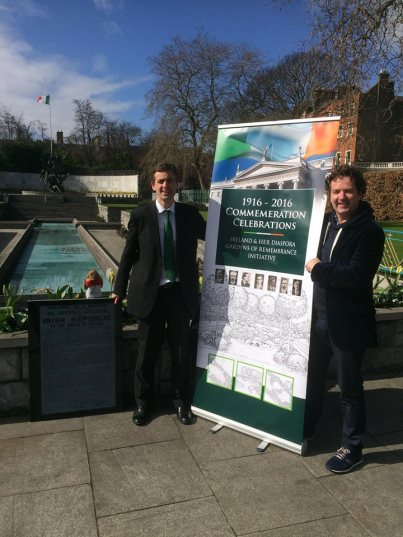 Senator Mark Daly and Diarmuid Gavin at the launch of the 1916 Gardens of Remembrance project