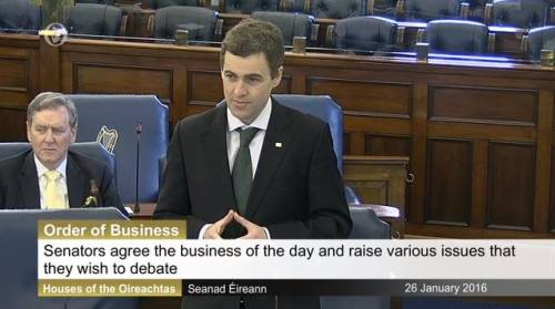 26 1 2016 order of business seanad