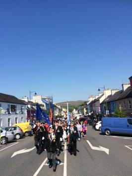 kenmare parade for the 1916 garden of remembrance ceremony