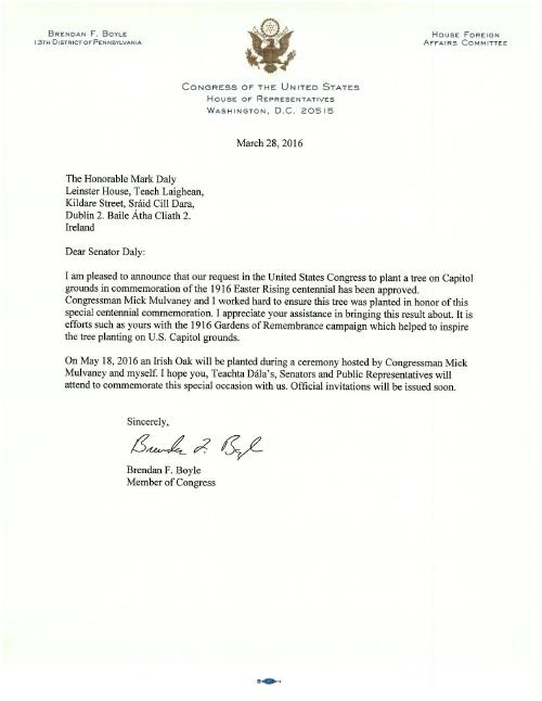 Letter from Brendan Boyle