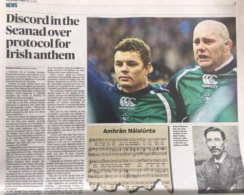 Irish Times Anthem