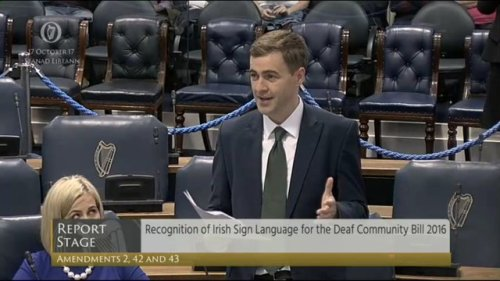 recog of isl bill seanad debate