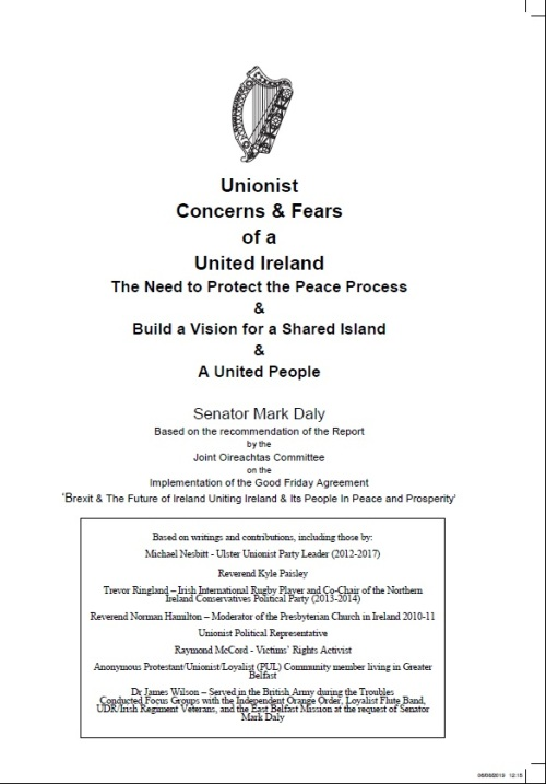 unionist fears and concerns cover